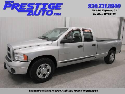 2003 Dodge Ram Pickup 2500 for sale at Prestige Auto Sales in Brillion WI