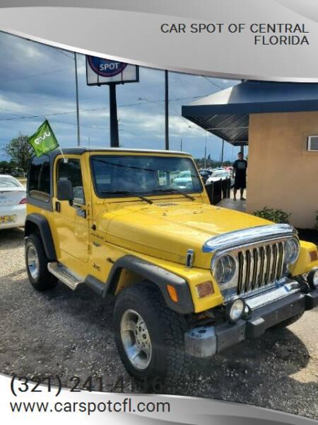 2002 Jeep Wrangler for sale at Car Spot Of Central Florida in Melbourne FL