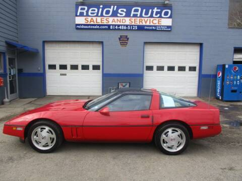 1989 Chevrolet Corvette for sale at Reid's Auto Sales & Service in Emporium PA