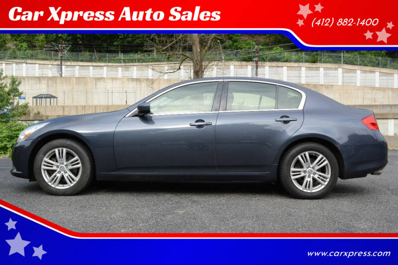 2013 Infiniti G37 Sedan for sale at Car Xpress Auto Sales in Pittsburgh PA