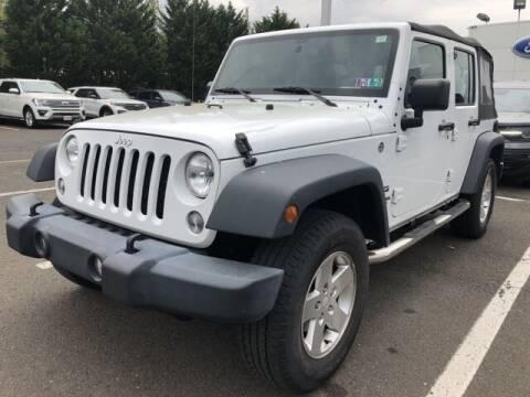 2017 Jeep Wrangler Unlimited for sale at CHAPMAN FORD NORTHEAST PHILADELPHIA in Philadelphia PA