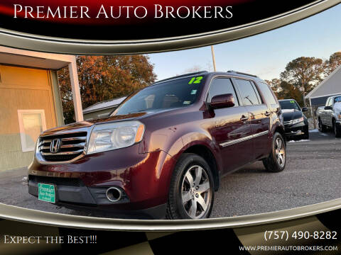 2012 Honda Pilot for sale at Premier Auto Brokers in Virginia Beach VA