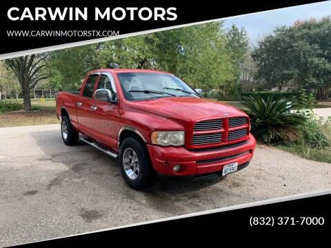 2004 Dodge Ram Pickup 1500 for sale at CARWIN MOTORS in Katy TX