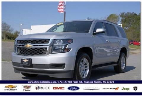 2019 Chevrolet Tahoe for sale at WHITE MOTORS INC in Roanoke Rapids NC