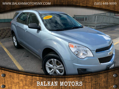 2014 Chevrolet Equinox for sale at BALKAN MOTORS in East Rochester NY