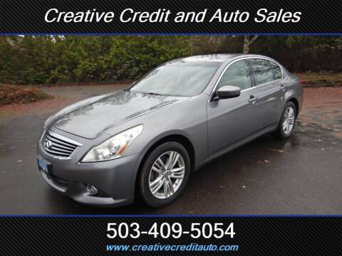 2011 Infiniti G37 Sedan for sale at Creative Credit & Auto Sales in Salem OR