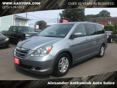 2006 Honda Odyssey for sale at Alexander Antkowiak Auto Sales in Hatboro PA