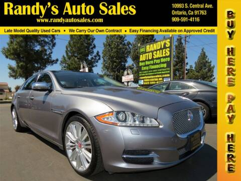 2014 Jaguar XJL for sale at Randy's Auto Sales in Ontario CA