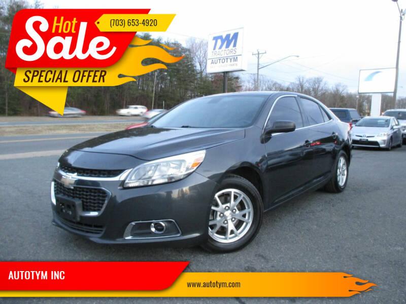2014 Chevrolet Malibu for sale at AUTOTYM INC in Fredericksburg VA