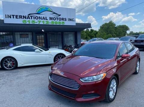 2013 Ford Fusion for sale at International Motors & Service INC in Nashville TN