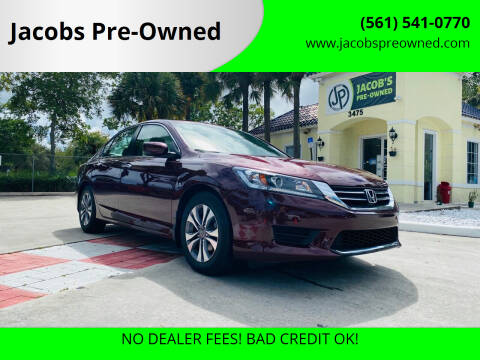 2015 Honda Accord for sale at Jacobs Pre-Owned in Lake Worth FL