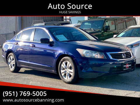 2010 Honda Accord for sale at Auto Source in Banning CA