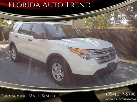 2012 Ford Explorer for sale at Florida Auto Trend in Plantation FL
