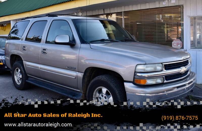 2002 Chevrolet Tahoe for sale at All Star Auto Sales of Raleigh Inc. in Raleigh NC