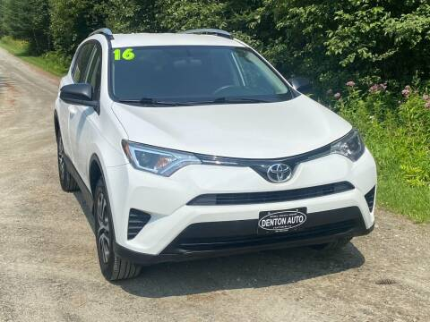 2016 Toyota RAV4 for sale at Denton Auto Inc in Craftsbury VT