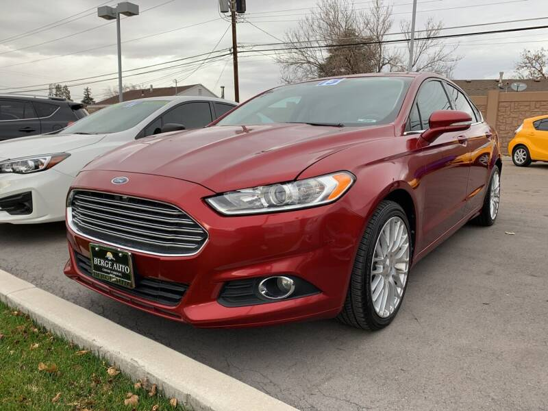 2013 Ford Fusion for sale at Berge Auto in Orem UT