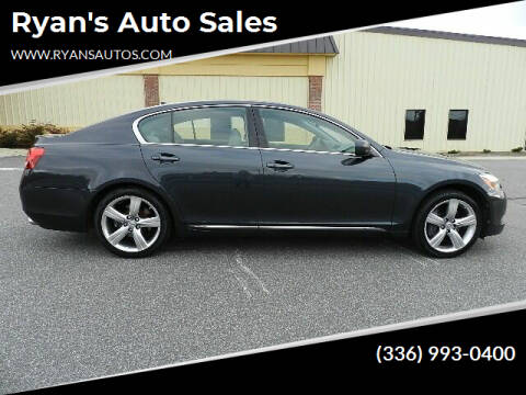 2007 Lexus GS 350 for sale at Ryan's Auto Sales in Kernersville NC