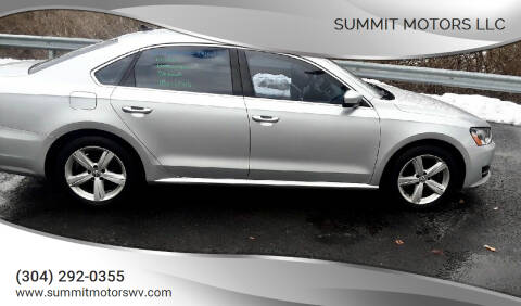 2014 Volkswagen Passat for sale at Summit Motors LLC in Morgantown WV