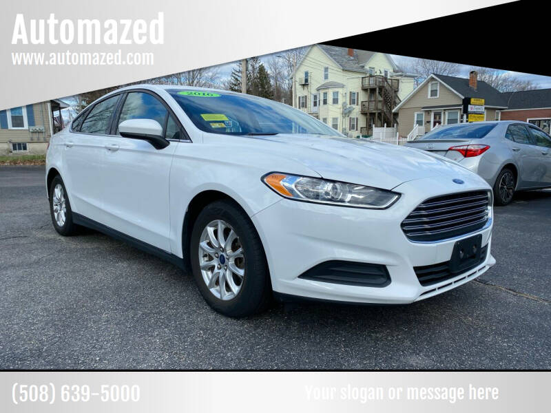2016 Ford Fusion for sale at Automazed in Attleboro MA