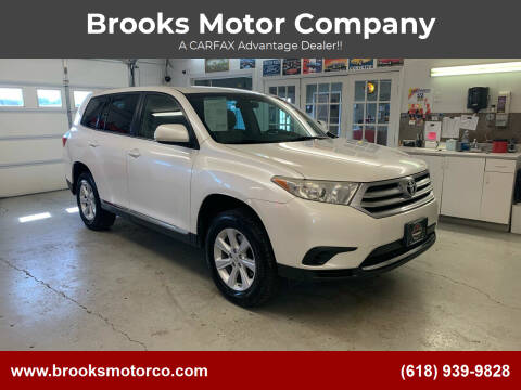 2013 Toyota Highlander for sale at Brooks Motor Company in Columbia IL