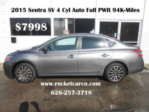 2015 Nissan Sentra for sale at Rocket Car sales in Covina CA