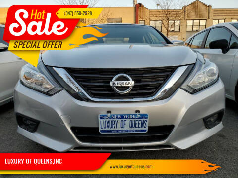 2017 Nissan Altima for sale at LUXURY OF QUEENS,INC in Long Island City NY