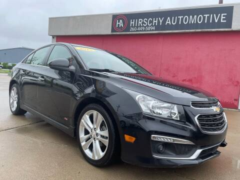 2015 Chevrolet Cruze for sale at Hirschy Automotive in Fort Wayne IN