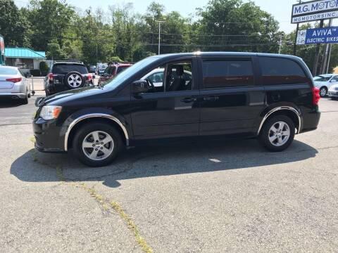 2013 Dodge Grand Caravan for sale at M G Motors in Johnston RI