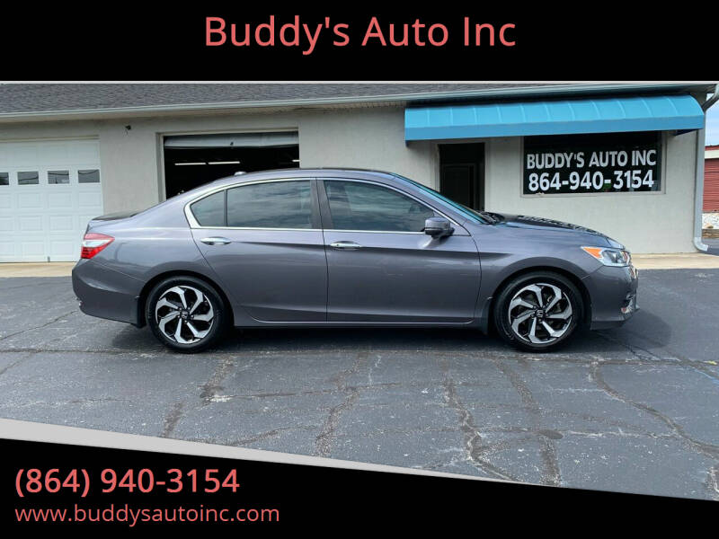 2016 Honda Accord for sale at Buddy's Auto Inc in Pendleton, SC