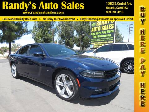 2016 Dodge Charger for sale at Randy's Auto Sales in Ontario CA