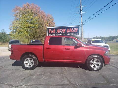 2013 RAM Ram Pickup 1500 for sale at T & G Auto Sales in Florence AL
