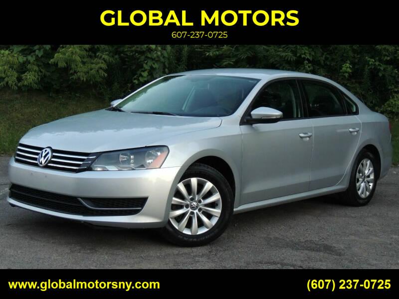 2012 Volkswagen Passat for sale at GLOBAL MOTORS in Binghamton NY