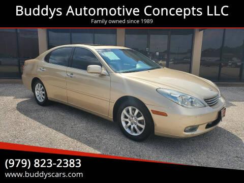 2002 Lexus ES 300 for sale at Buddys Automotive Concepts LLC in Bryan TX