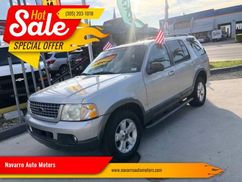 2003 Ford Explorer for sale at Navarro Auto Motors in Hialeah FL