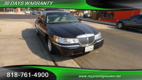 2000 Lincoln Town Car for sale at Prestige Auto Sports Inc in North Hollywood CA