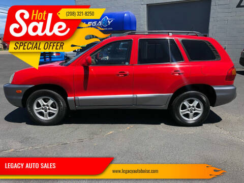 2004 Hyundai Santa Fe for sale at LEGACY AUTO SALES in Boise ID