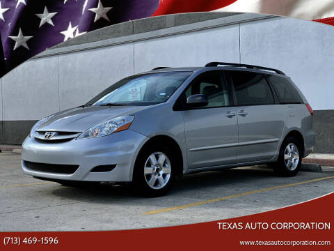2010 Toyota Sienna for sale at Texas Auto Corporation in Houston TX