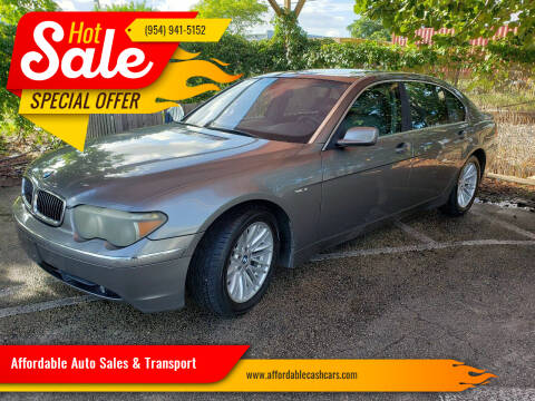 2003 BMW 7 Series for sale at Affordable Auto Sales & Transport in Pompano Beach FL