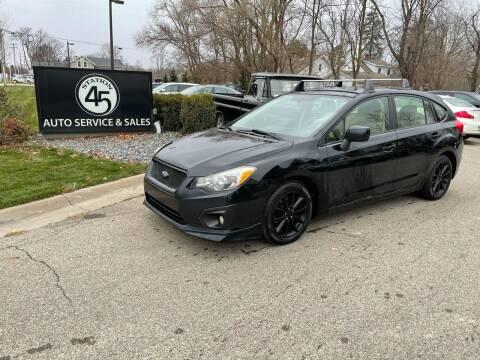 2012 Subaru Impreza for sale at Station 45 Auto Sales Inc in Allendale MI