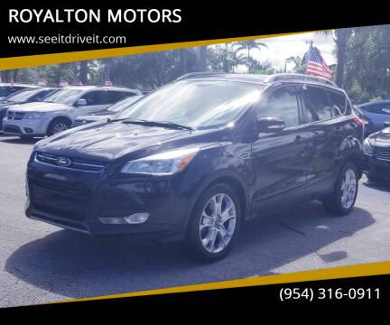2014 Ford Escape for sale at ROYALTON MOTORS in Plantation FL