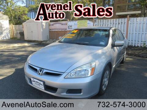 2006 Honda Accord for sale at Avenel Auto Sales in Avenel NJ