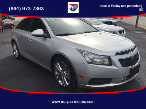 2011 Chevrolet Cruze for sale at Mayan Motors Easley in Easley SC