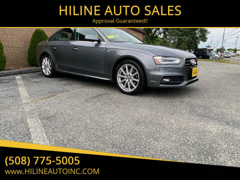 2014 Audi A4 for sale at HILINE AUTO SALES in Hyannis MA