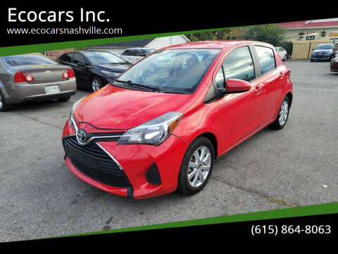 2016 Toyota Yaris for sale at Ecocars Inc. in Nashville TN