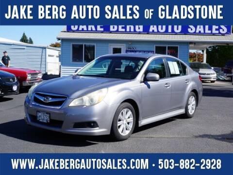 2011 Subaru Legacy for sale at Jake Berg Auto Sales in Gladstone OR