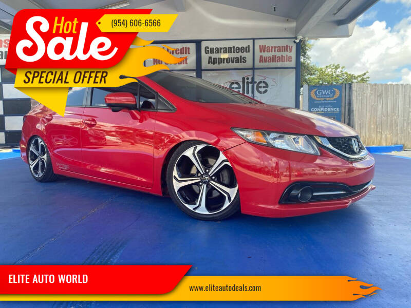 2015 Honda Civic for sale at ELITE AUTO WORLD in Fort Lauderdale FL