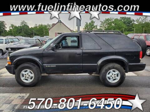 1999 Chevrolet Blazer for sale at FUELIN FINE AUTO SALES INC in Saylorsburg PA