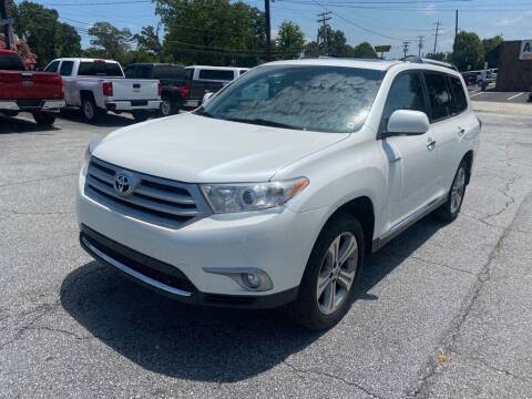 2012 Toyota Highlander for sale at Brewster Used Cars in Anderson SC