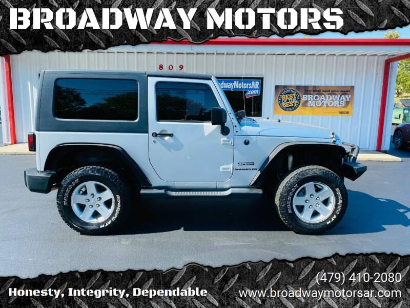 2010 Jeep Wrangler for sale at BROADWAY MOTORS in Van Buren AR