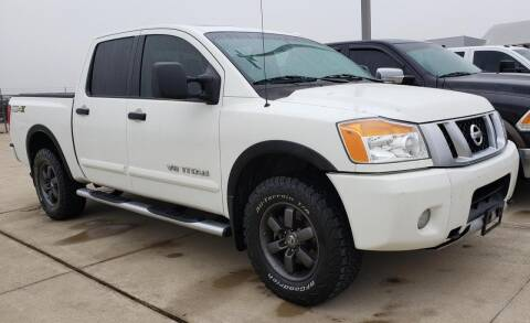 2013 Nissan Titan for sale at Lipscomb Auto Center in Bowie TX